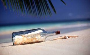 Une bouteille jetée à la mer en 1886 a été retrouvée en Australie (illustration).