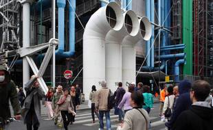 Le Centre Pompidou à Paris. (Illustration)