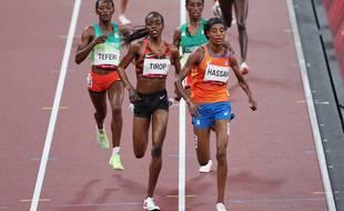 Agnes Tirop lors des Jeux olympiques de Tokyo cet été.