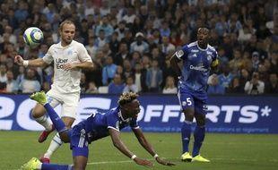 Mohamed Simakan (au premier plan) avait été aligné avec Lamine Koné à Marseille.