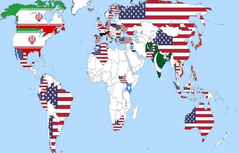 Dans la carte du monde des «grands Satans», on ne voit que les