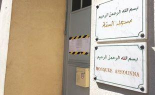 La mosquée Assounna de Sète, fermée mercredi.