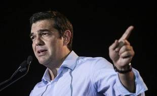 Alexis Tsipras lors d'un meeting électoral le 3 septembre 2015 à Athènes