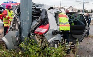 L'accident a fait deux blessés.