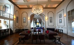 Un salon de Clairefontaine, le château où loge l'équipe de France de football.