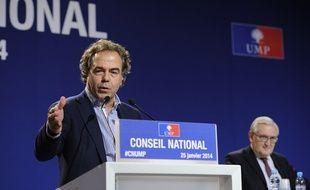 Luc Chatel, le 25 janvier 2014, lors du Conseil national de l'UMP à Paris.