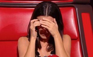 Jenifer, très émue après l'audition d'une candidate de la saison 8 de «The Voice».