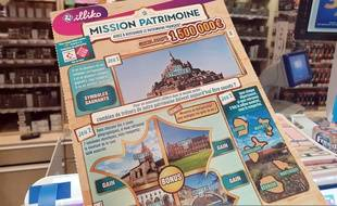 Illustration d'un ticket du loto de la Mission Patrimoine