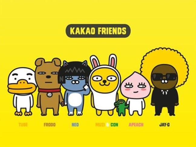 KakaoTalk a ses propres personnages, dérivés en stickers