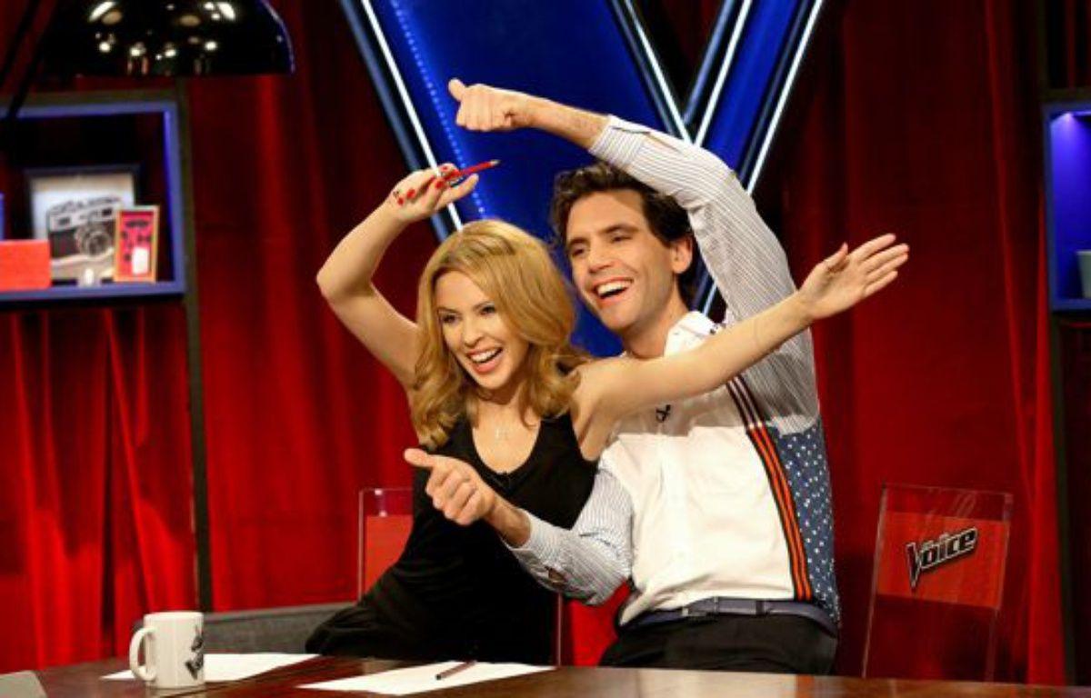 Kylie Minogue et Mika dans «The Voice». – Leroux TV/Shine/Bureau 233