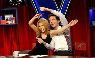 Kylie Minogue et Mika dans «The Voice».