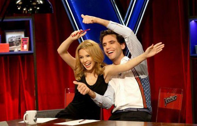 Kylie Minogue et Mika dans «The Voice».