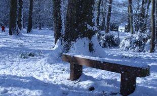 La neige a recouvert Cheptainville dans l'Essonne
