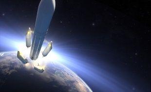 Vue d'artiste de la future fusée Ariane 6.