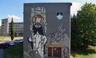 La fresque du graffeur 100Taur au couvent des Dominicains à Toulouse.