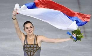 Adelina Sotnikova, le 20 février 2014 à Sotchi.
