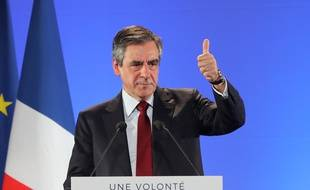 François Fillon en meeting le 17 avril 2017 à Nice.