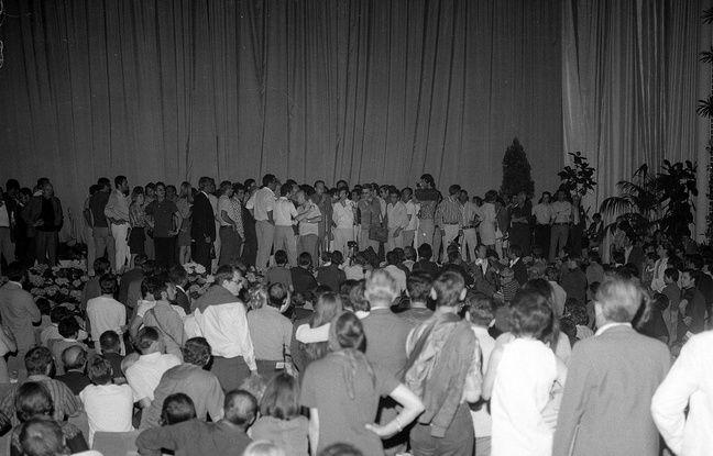 Le 18 mai 1968 dans la grande salle de l'ancien palais Croisette
