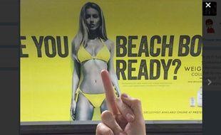 Campagne de publicité polémique pour des protéines.
