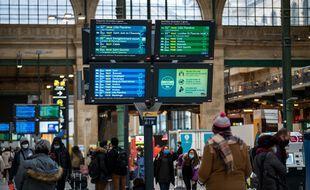La gare du Nord à Paris, le 23 décembre 2020.