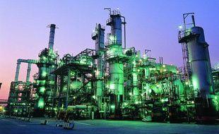 Une installation pétrolière à Téhéran, en Iran