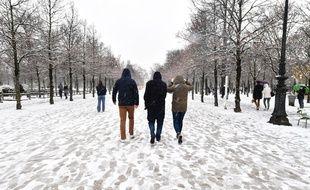 Paris sous la neige, le 16 janvier 2021.