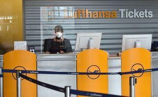 Un guichet Lufthansa à Munich, le 3 juin 2020.
