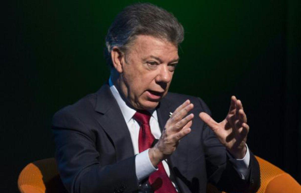 Le président colombien Juan Manuel Santos à Washington, le 5 février 2016 – Saul Loeb AFP