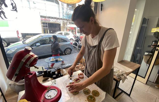 Ewa Fournier le Ray dans son atelier éco-conscient