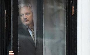 Le fondateur de Wikileaks, Julian Assange à l'ambassade d'Equateur à Londres, le 5 février 2016