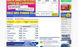 La campagne de pub de Ryanair suite à la médiatisation de l'«incident urinaire» de Gérard Depardieu, le 17 août 2011.