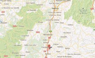 Carte de localisation de Sain-Paul-Trois-Châteaux (Drôme)