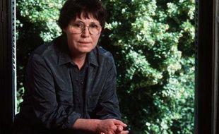 Agota Kristof, le 1er juillet 1991,en séance photo