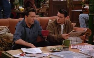 "Matthew Perry et Matt Le Blanc dans ""Friends"""