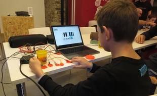 A Nantes, le 26 octobre 2014- Un coding gouter a ete organise ce dimanche a Nantes