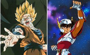 «Dragon Ball Z» et «Saint Seiya», deux animés cultes sur lesquels a travaillé le réalisateur  Shigeyasu Yamauchi