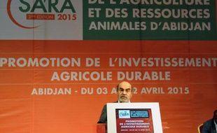 Le directeur général de la FAO, José Graziano da Silva, lors du Salon de l'agriculture et des ressources animales d'Abidjan, le 3 avril 2015