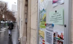Une école en grève à Paris le 22 janvier 2013