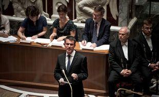 Manuel Valls lors des questions au gouvernement au palais Bourbon le 20 juillet 2016.