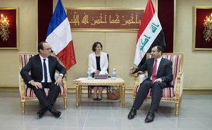 Lors de sa visite en Irak, François Hollande a rencontré le porte-parole du parlement irakien, Salim al-Juburi.