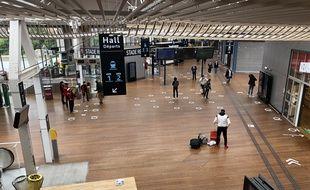 La gare de Rennes est encore bien déserte. Ici, le 18 juin 2020.