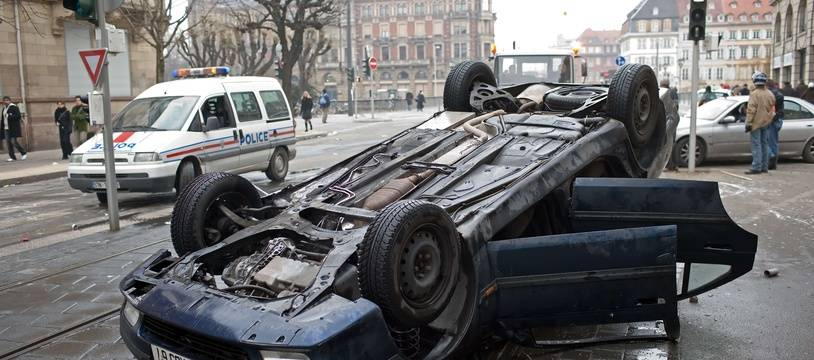 Un accident de voiture à Strasbourg.