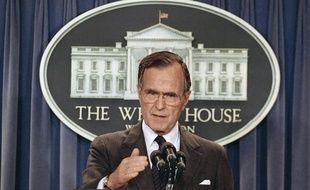 Le président George H.W. Bush, en mai 1989.Le 41e président des Etats-Unis a aujourd'hui 90 ans.