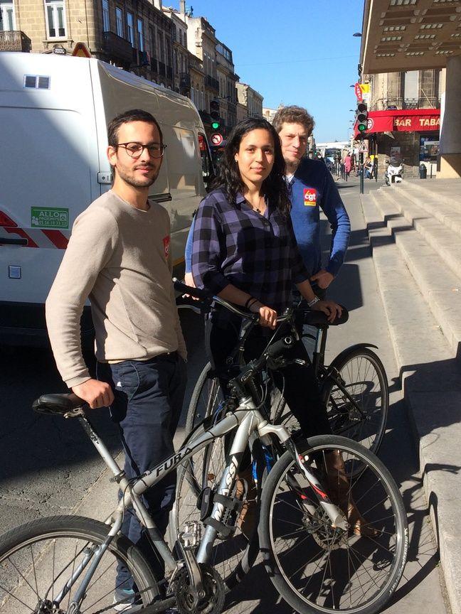 Arthur, Sara et Maël sont coursiers à vélo à Bordeaux et ont crée une section syndicale CGT pour défendre leurs droits.