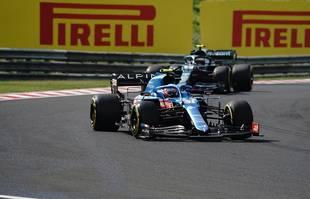 Le Français Esteban Ocon (Alpine F1) lors du Grand Prix de Hongrie, à Budapest, le 1er août 2021.