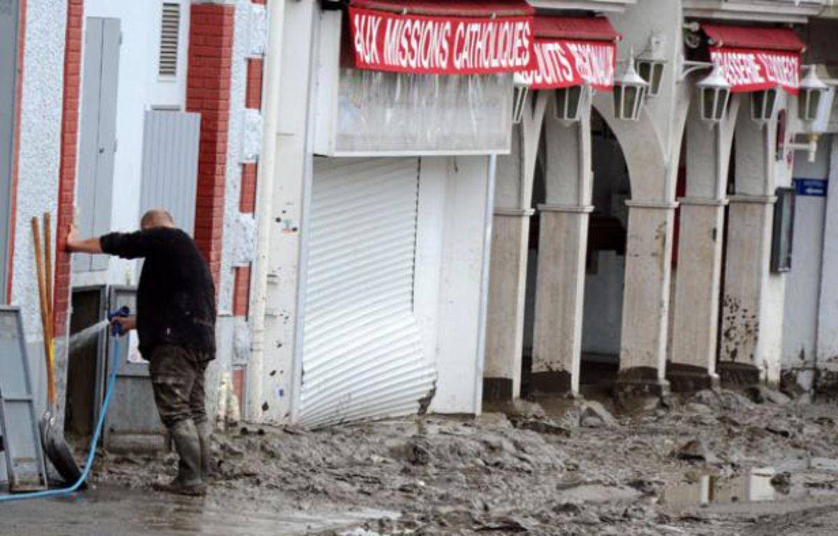 Des inondations ont touché la ville de Lourdes le 20 juin.  – P. PAVANI / AFP