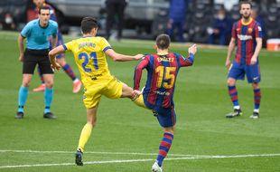 Clément Lenglet a concédé un penalty lors de Barça-Cadix, le 21 février 2021.