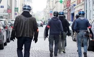 Illustration d'une intervention de la BAC de Rennes, ici en marge d'une manifestation contre la loi Travail.