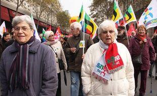A la manifestation contre la réforme des retraites, le 26 novembre 2013, à Paris.