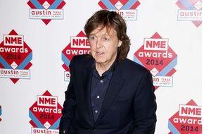 Paul McCartney aux NME Awards 2014 à Londres.